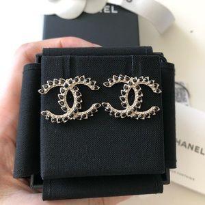 Chanel CC Big Earrings